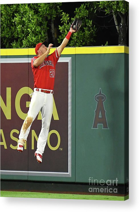 People Acrylic Print featuring the photograph Seattle Mariners V Los Angeles Angels by Jayne Kamin-oncea