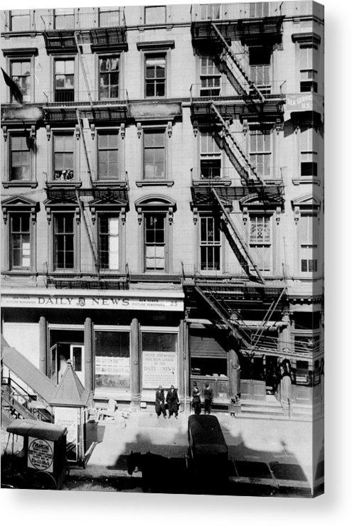 The New York Daily News Building On Acrylic Print By New York Daily