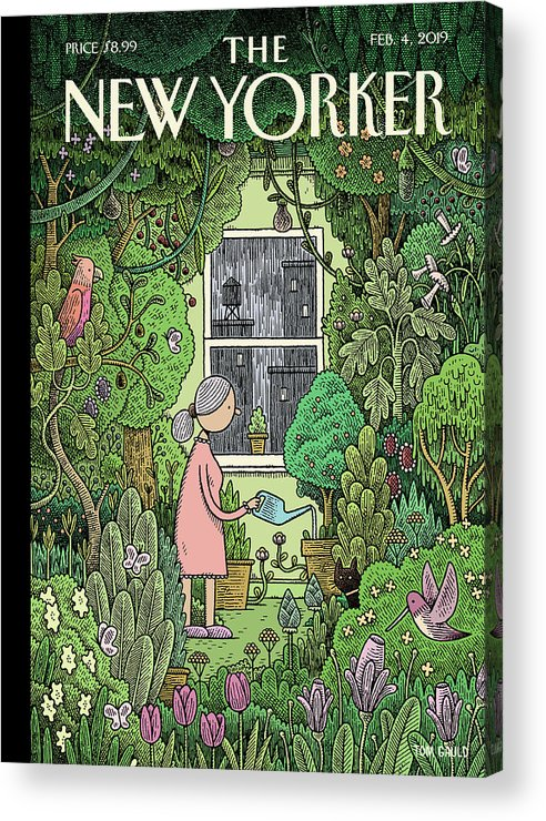 Winter Garden Acrylic Print featuring the painting Winter Garden by Tom Gauld