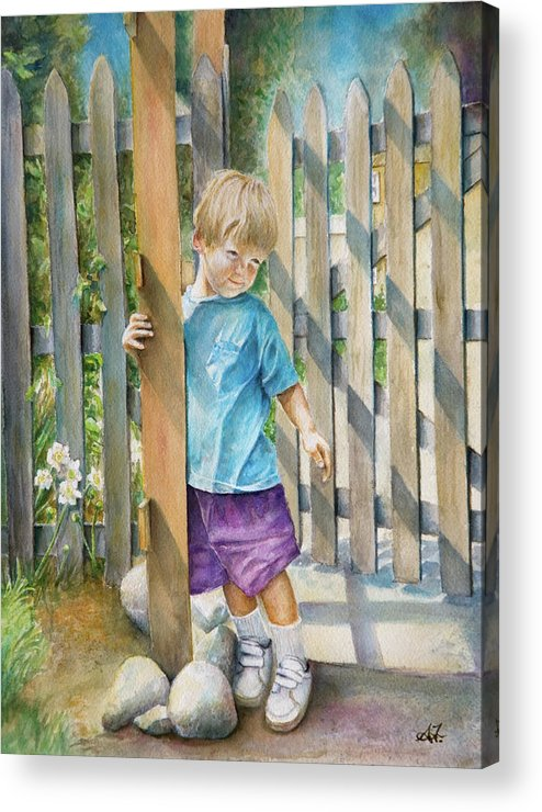 Portrait Acrylic Print featuring the painting Age Of Innocence by Arthur Fix