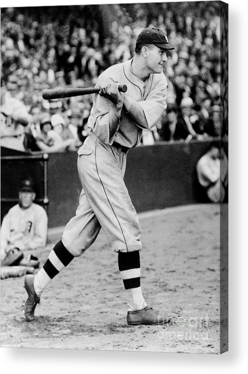 People Acrylic Print featuring the photograph Heinie Manush by National Baseball Hall Of Fame Library