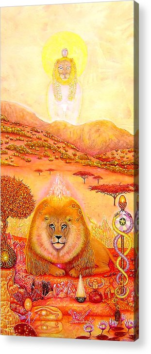 Mythic Art Acrylic Print featuring the painting August 12 Stargate by Jane Tripp