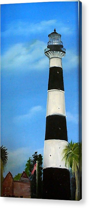 Cape Canaveral Lighthouse Acrylic Print featuring the painting Cape Canaveral Lighthouse by Darlene Green
