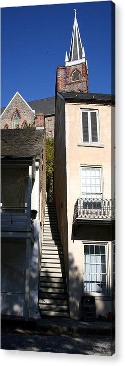 Historic Acrylic Print featuring the photograph Stairs To Where by Rebecca Smith