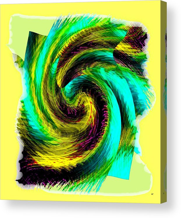 Abstract Fusion Acrylic Print featuring the digital art Abstract Fusion 201 by Will Borden