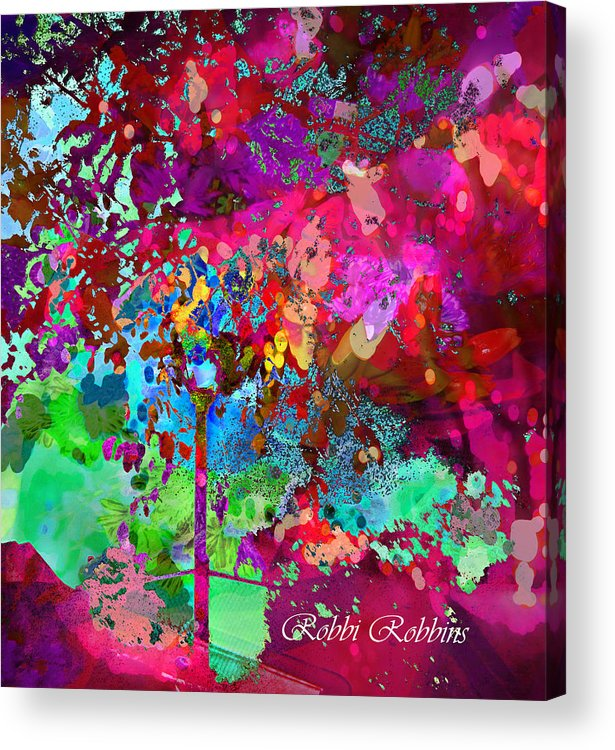 Colorful Acrylic Print featuring the digital art Groovy Day by Brilliant Hues