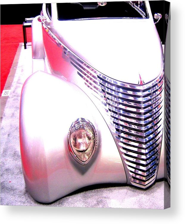 Street Rods Acrylic Print featuring the photograph Shimmering Coupe by Don Struke