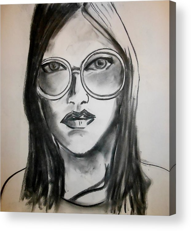 Charcoal Acrylic Print featuring the drawing Teacher's Aide by Jason Reinhardt
