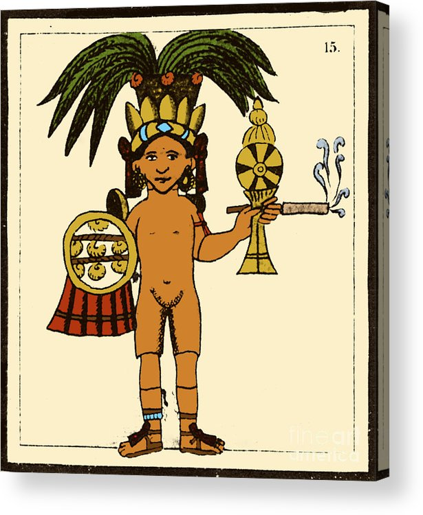 Art Acrylic Print featuring the photograph Tobacco In Aztec Ritual, Florentine by Science Source