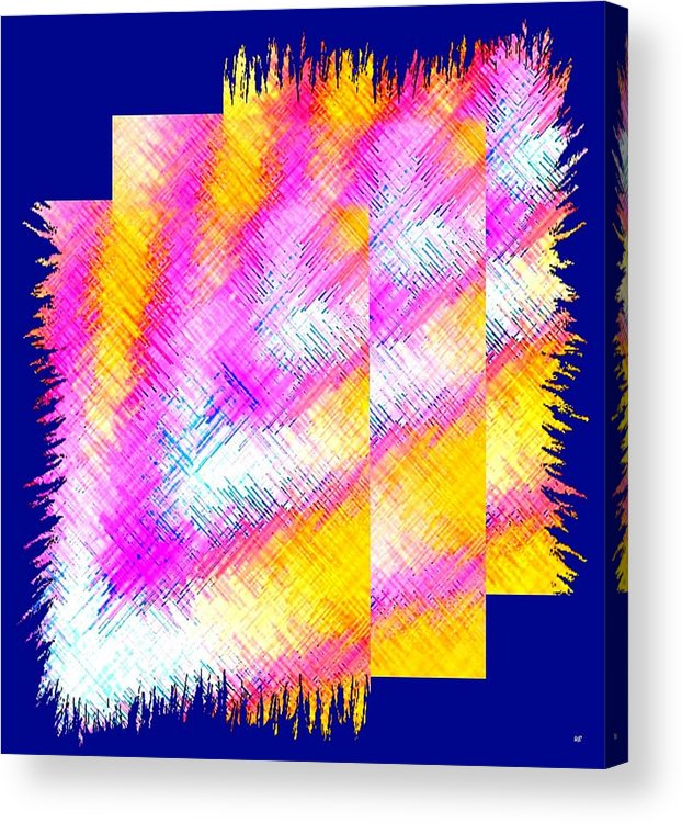 Abstract Fusion Acrylic Print featuring the digital art Abstract Fusion 127 by Will Borden
