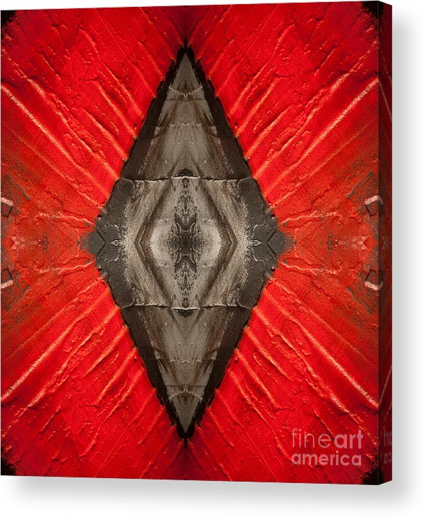 Diamond Acrylic Print featuring the painting The Diamond Of Courage by Bruce Stanfield