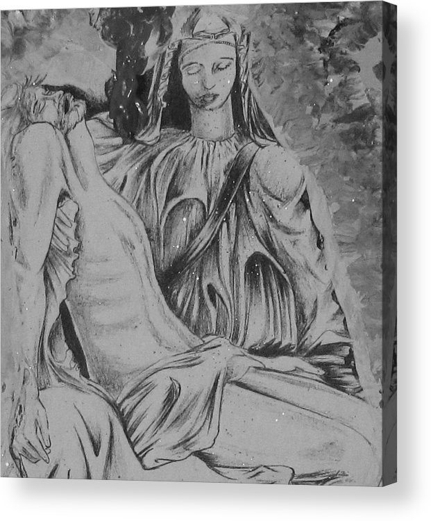 Art Acrylic Print featuring the painting I Am Here by HollyWood Creation By linda zanini