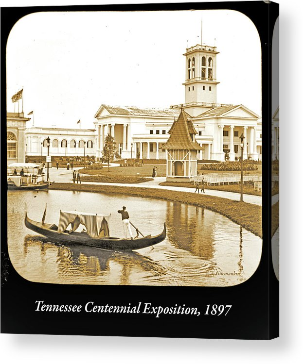 Tennessee Centennial Exposition Acrylic Print featuring the photograph Tennessee Centennial Exposition, Auditorium Building, Lake And G by A Gurmankin