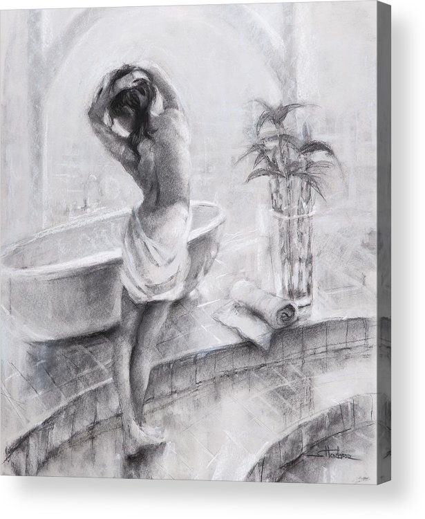 Bath Acrylic Print featuring the painting Bathed In Light by Steve Henderson