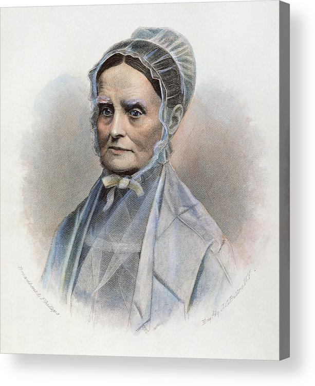 19th Century Acrylic Print featuring the photograph Lucretia Coffin Mott by Granger