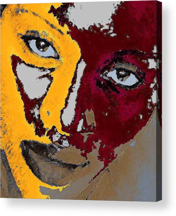 Portrait Acrylic Print featuring the photograph Painted Face by LeeAnn Alexander