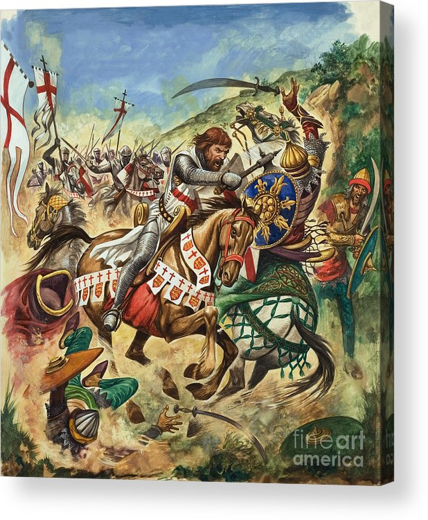 Richard Acrylic Print featuring the painting Richard The Lionheart During The Crusades by Peter Jackson