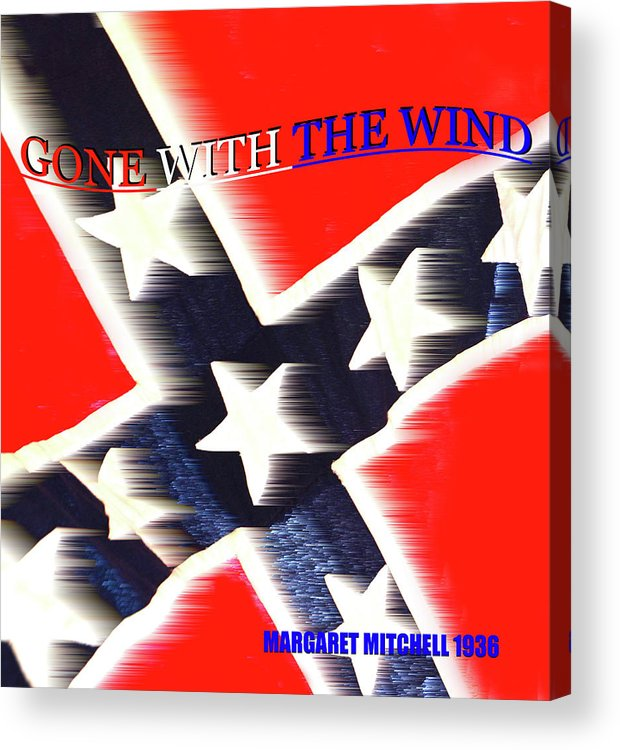 Gone With The Wind By Margaret Mitchell Acrylic Print featuring the mixed media Gone With The Wind Minimalism Book Cover Art by David Lee Thompson