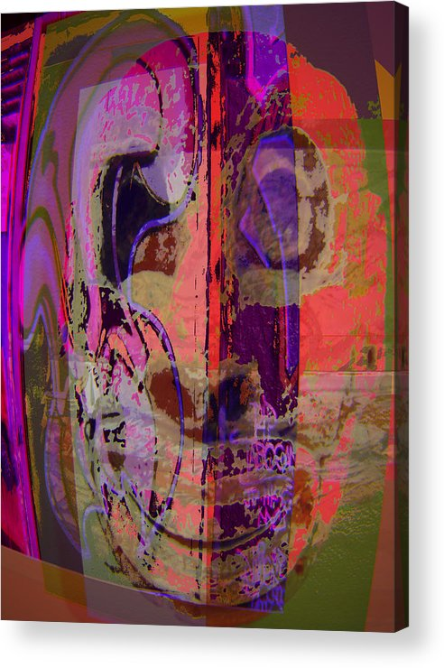 Mask Acrylic Print featuring the mixed media Mask by Noredin Morgan
