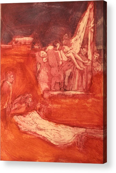 Religious Acrylic Print featuring the painting Apres Rembrandt by Biagio Civale