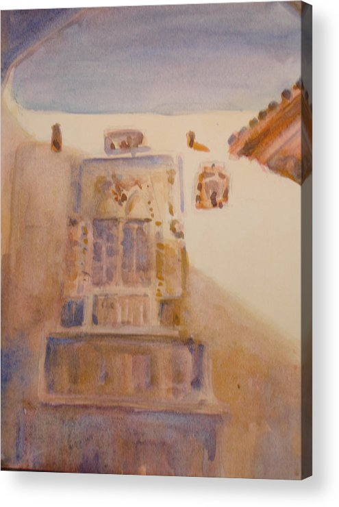 Adobe House Acrylic Print featuring the painting Christopher Colon House by Joyce Kanyuk