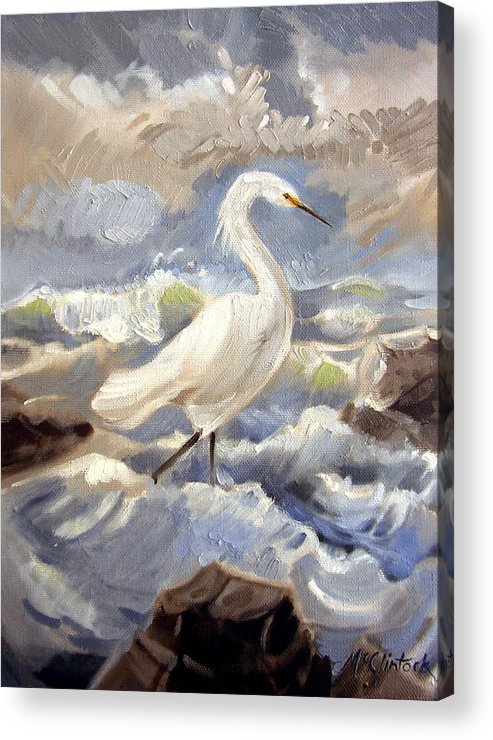 Animal Acrylic Print featuring the painting Endangered by Patrick McClintock