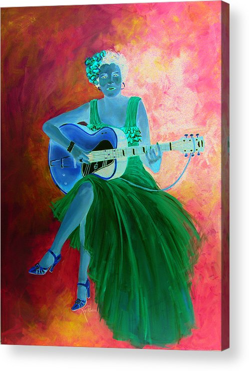 Blues Singers Acrylic Print featuring the painting Memphis Minnie by Kay Robinson
