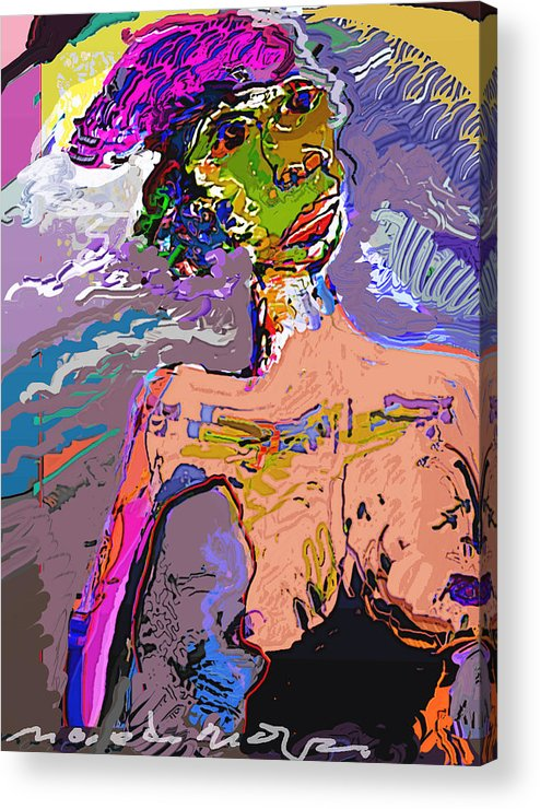 Acrylic Print featuring the mixed media Rainbow by Noredin Morgan