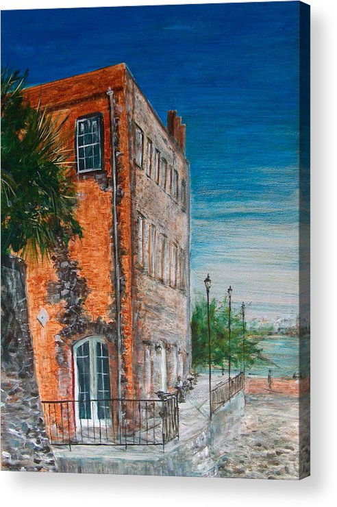 Savannah Acrylic Print featuring the painting River Street by Pete Maier