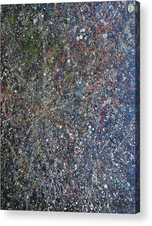 Space Acrylic Print featuring the painting The Empyreal Deep by Steven Dean
