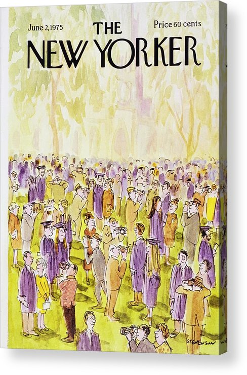Illustration Acrylic Print featuring the painting New Yorker June 2nd 1975 by James Stevenson