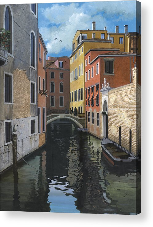 Venice Acrylic Print featuring the painting Canal Rhapsody by Harold Shull