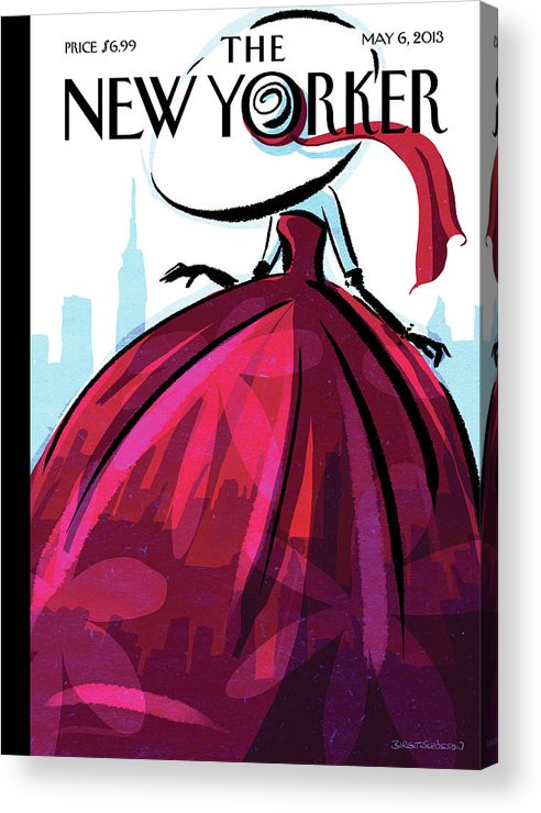 New York City Acrylic Print featuring the painting City Flair by Birgit Schoessow