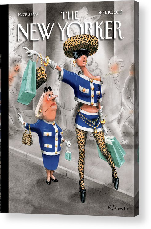 Fashion Acrylic Print featuring the painting Stiff Competition by Ian Falconer