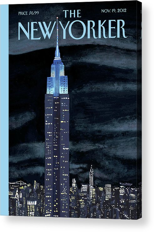 New York City Acrylic Print featuring the painting Rhapsody In Blue by Mark Ulriksen