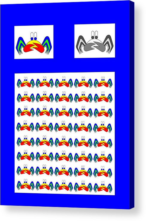 42 Crab Mac Claws Acrylic Print featuring the digital art 42 Crab Mac Claws by Asbjorn Lonvig