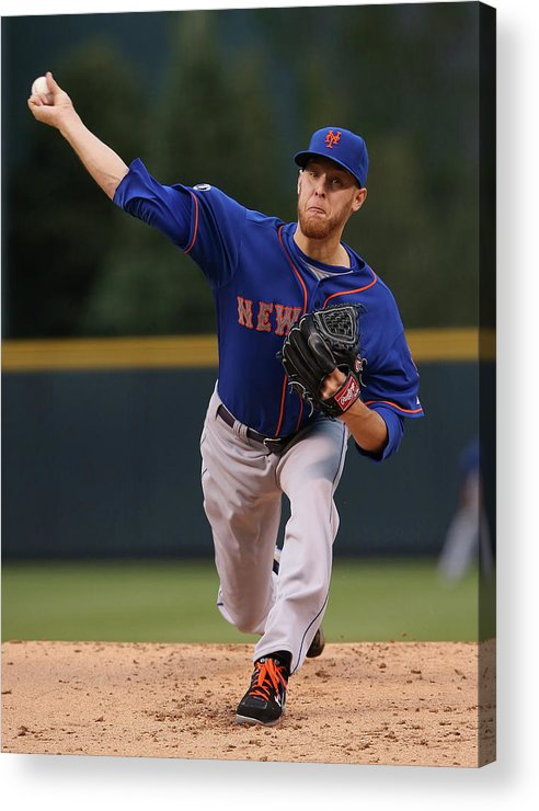 Baseball Pitcher Acrylic Print featuring the photograph New York Mets V Colorado Rockies by Doug Pensinger
