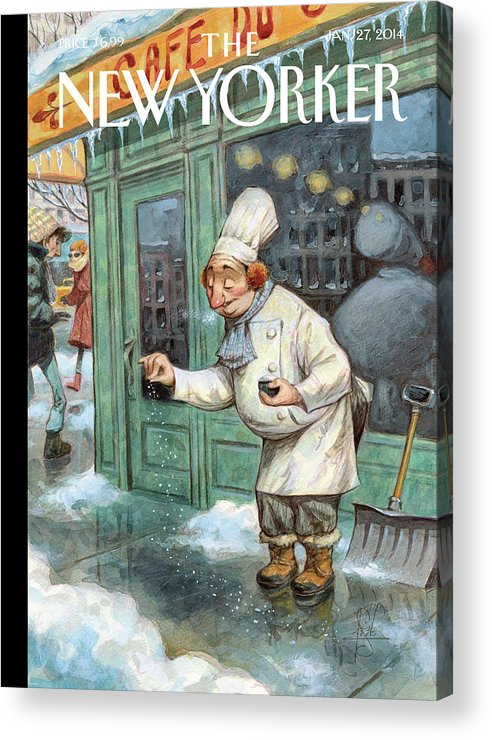 Cooking Acrylic Print featuring the painting Just a Pinch by Peter de Seve