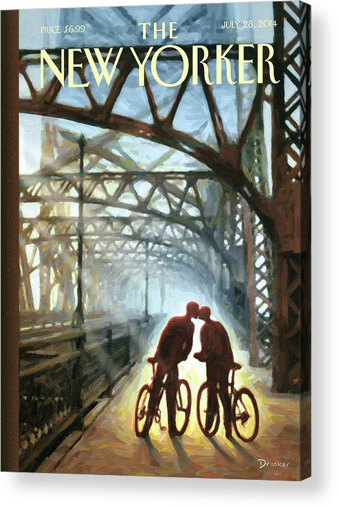 Bicycle Acrylic Print featuring the painting Fifty Ninth Street Bridge by Eric Drooker