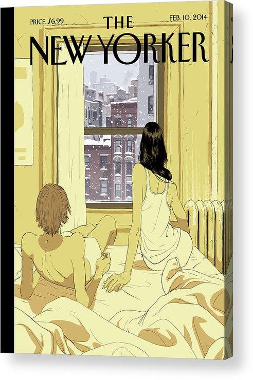 Seasons Acrylic Print featuring the painting Perfect Storm by Tomer Hanuka