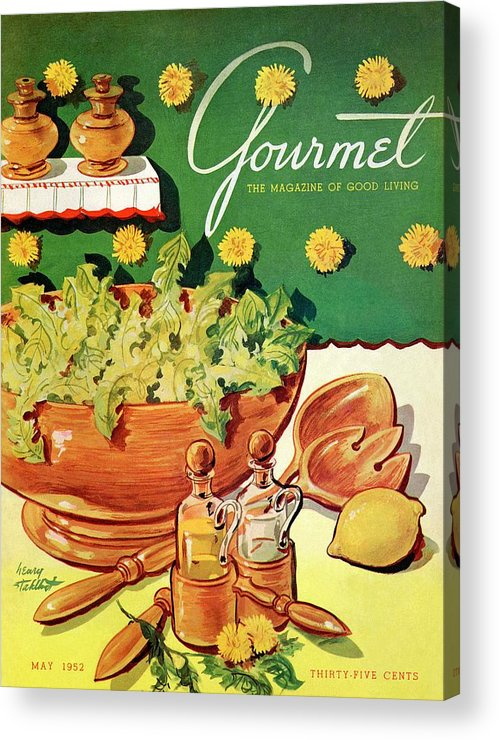 Food Acrylic Print featuring the photograph A Gourmet Cover Of Dandelion Salad by Henry Stahlhut