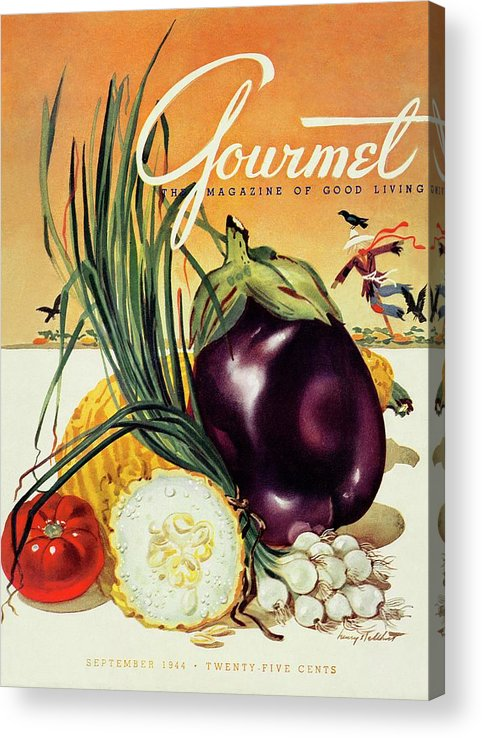 Food Acrylic Print featuring the photograph A Gourmet Cover Of Vegetables by Henry Stahlhut