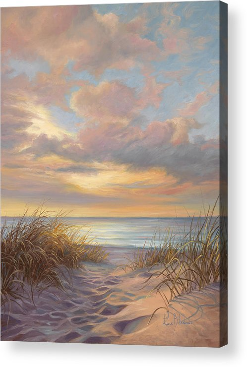 Beach Acrylic Print featuring the painting A Moment Of Tranquility by Lucie Bilodeau