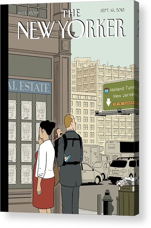 Crossroads Acrylic Print featuring the painting Crossroads by Adrian Tomine