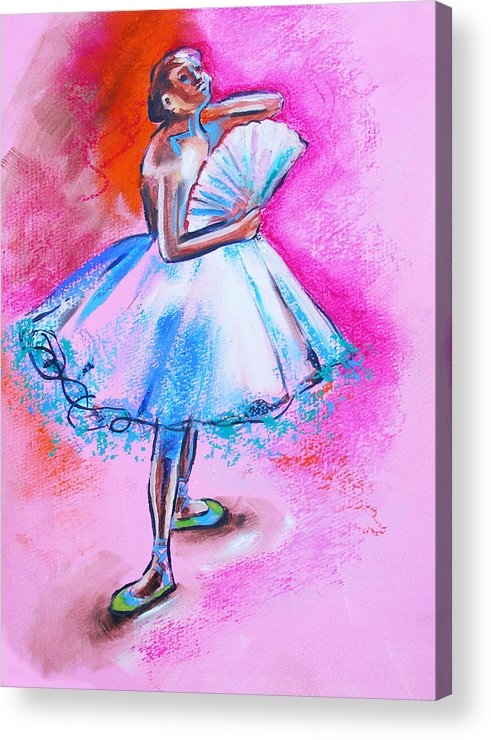 Degas Acrylic Print featuring the painting After Master Degas Ballerina With Fan by Susi Franco