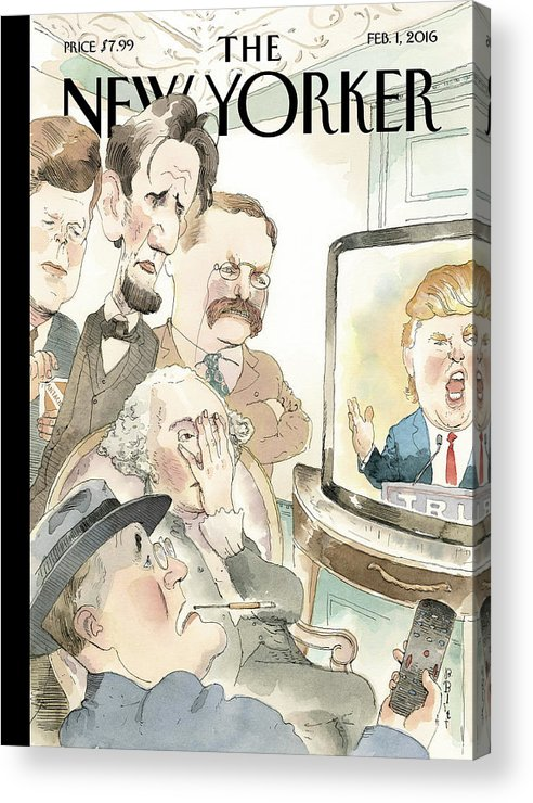 Presidents Acrylic Print featuring the painting Bad Reception by Barry Blitt