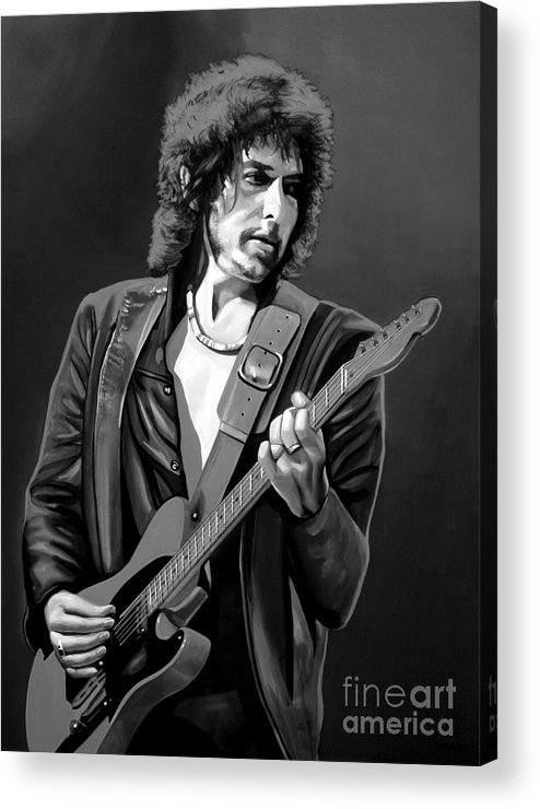 Bob Dylan Acrylic Print featuring the mixed media Bob Dylan by Meijering Manupix