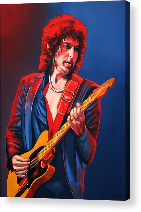 Bob Dylan Acrylic Print featuring the painting Bob Dylan Painting by Paul Meijering