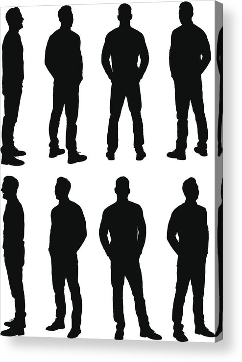 Young Men Acrylic Print featuring the drawing Casual man standing by 4x6