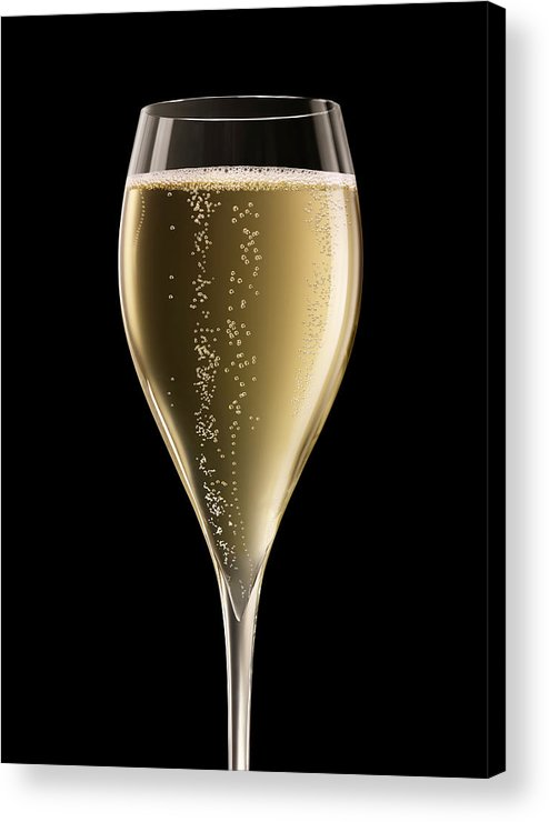Alcohol Acrylic Print featuring the photograph Champagne Glass Xxxl by Jamesachard